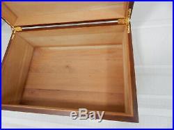 15 Cherry Wood Humidor Cigar Tobacco Cedar Lined/Brass Hinges 100 Cigar Box