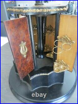 1800s Antique French Napoleon III Gilt Humidor Cigar box