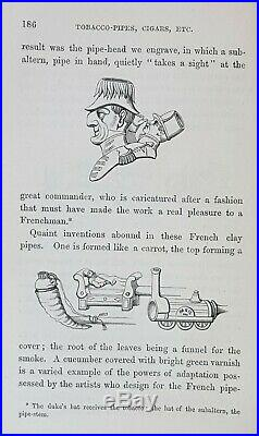 1859 HISTORY OF TOBACCO pipe CIGAR cigarette SNUFF box TIN art HUMIDOR lighter