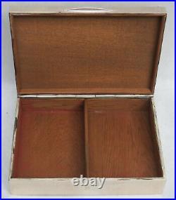 1907 London Sterling Silver 8 X 5 Cigar Humidor Box