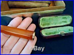 1915 Sterling Humidor Seaforth Highlanders Box, Cigar Cutter, Orig Cigars, Sm Ca