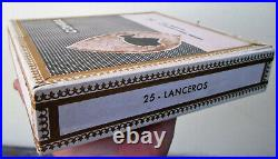 1970 SCATOLA -COHIBA- VINTAGE 25 COLLECTION LANCEROS CIGAR BOX no humidor cutter