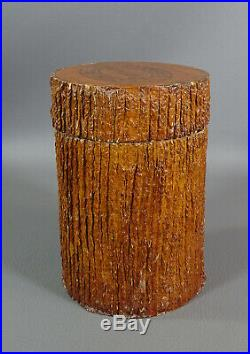 1970s Vintage TRONQUITO Tree Trunk Sancho Panza Cigar Humidor Box Tobacco Jar
