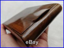 20th C rare original Antique Wooden Desk Top Cigar Humidor Box For Petite Cigars