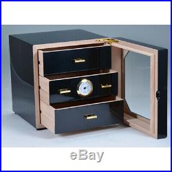 3 layer Humidor Cabinet Multilayer Cigar Cabinet Piano Paint Box Storage