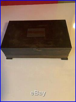 502-150 Silver Crest Bronze Cigar Humidor Box with Insert