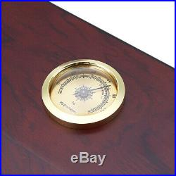 50pcs Count Cigar Wooden Humidor Box Cabinet Storage Humidifier Hygrometer Clear