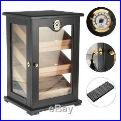 75-150 Cigars Large Wood Cigar Humidor Case Box with Hygrometer Humidifier Lock