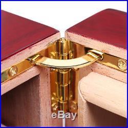 75 Cigars Wood Cedar Lined Cigar Storage Case Box Humidor Humidifier Hygrometer