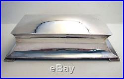 ANTIQUE 9 Wide Sterling Silver CIGAR/HUMIDOR Cigarette Trinket Jewelry Case Box