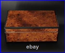 A Mattey French Travel Cigar Box Humidor Wood style elie bleu cigar humidor