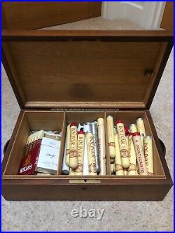 A Super Solid Vintage Cigar Humidor Cigar Box With Handles