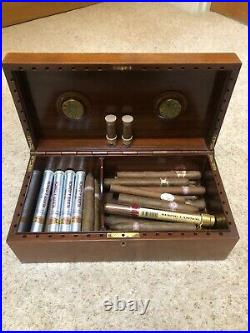 A Super Vintage Cigar Humidor Box Made In Italy