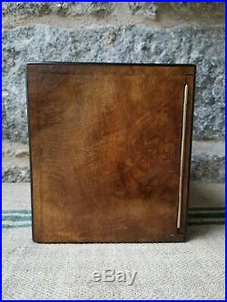 A Victorian Burr walnut Humidor