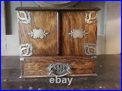 A Victorian Oak Humidor