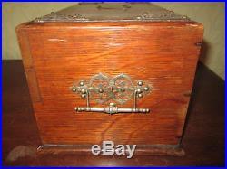 A Victorian cigar box / humidor