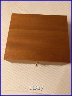 Adorini Cedro Deluxe Cigar Humidor Cedar Medium Pristine Condition Boxed