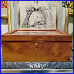 Agresti Cigar Tobacco Humidor Case Box W34cm×D23.8cm×H14 Briarwood Unused