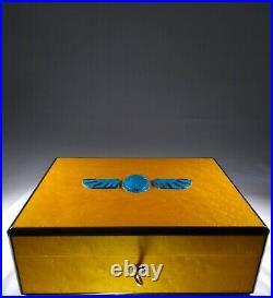 Ancient Egyptian Scarab Humidor Stash Box Home Decor Collectible w Provenance