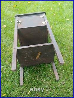 Antique 1890s Smoking Stand tin Lined insulated box Humidor solid wood ornate