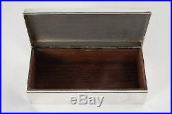 Antique 1913 Tiffany & Co. Sterling Silver Wood Cigar Humidor Box