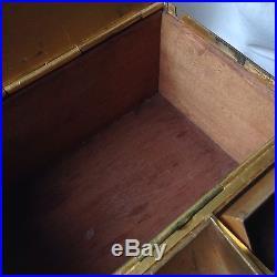 Antique 19. C Hunter Pipe Humidor Tobacco Box Bronze Gold Wild Boar Duck Dog Prey