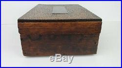 Antique Bank Note Cigars 5 Cent Cigar Wood Original Humidor Box