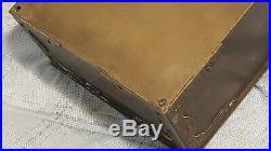 Antique Bradley Hubbard Brass Cigar Humidor Box Chest B&h Lockable