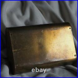 Antique Carl Aubock Cigarette Cigar Pipe Humidor Tobacco Box Bronze Gold Jewelry