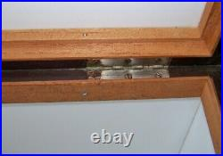 Antique DUNHILL Glass Lined Mahogany Tobacco Cigar Humidor Box withBarrel Key