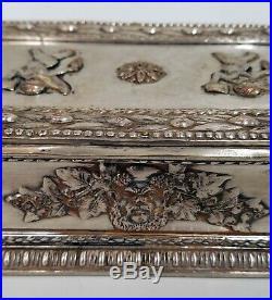 Antique Edward F. Caldwell New York, Silvered Bronze Humidor Cigar Box
