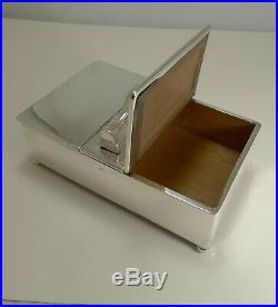 Antique English Sterling Silver Cigar Box / Humidor 1905