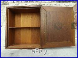 Antique Flor Fina Advertising Shop Display Cigar Cabinet Humidor Wooden Box