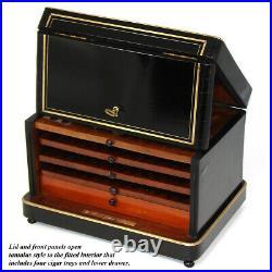 Antique French Napoleon III Palais Royal Marked 11 Cigar Box, Tantalus Casket