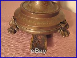 Antique French bronze tobacco cigarette cigar dispenser humidor jar music box