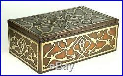 Antique Heintz Art Metal ARTS & CRAFTS Silver on Copper Cigar Box, Humidor