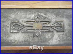 Antique Heintz Metal Art Sterling on Bronze Cigarette Box 8 1/2 wide