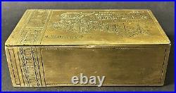 Antique Imperial Russian Trompe Loeil Brass Gracia Cigar Box (A. N. Shaposhnikov)