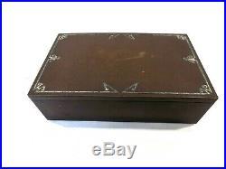 Antique Mission Arts & Crafts Heintz Sterling On Bronze Desktop Humidor Box 1912