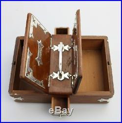 Antique Treen / Boxes A fine & unusual Smoking Humidor Companion Box C. 1885