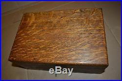 Antique Vtg Patent Dec 22, 1908 wood Humidor Marble Glass Cigar box RARE