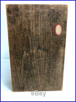 Antique Wood Cigar Humidor Box Metal Lined Interior Metal Cigar On Top