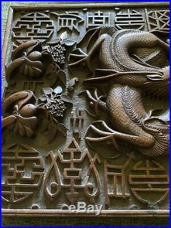 Antique Wooden 12 Cigar Chinese Humidor Box Circa 1920