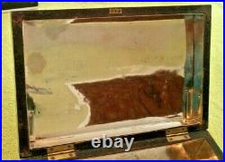 Antique Wooden Humidor Box Metal Lined Mahogany Primitive Victorian Decor