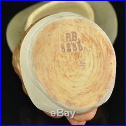 Antique tobacco jar, BB, Bernard Bloch (1836-1909), box, figure