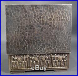 Art&Craft Modernist Szabo Gy. Bronze Jewelry Humidor Cigar Box Nude Women Warrior