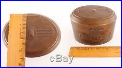 Art Deco Bronze Brass Desk Humidor Box CDE Carl Deffner Jugendstil Tobacco Tin