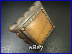Art Deco Cedar Bronze Humidor Cigar Lidded Box Tobacco Case