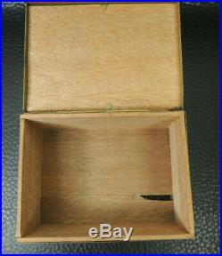 Arts Crafts Victorian Cigarette Box Humidor Cedar Lined Box Cherubs