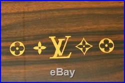 Authentic Louis Vuitton Humidor Cigar Case Box Wood Plastic Brown Monogram LV